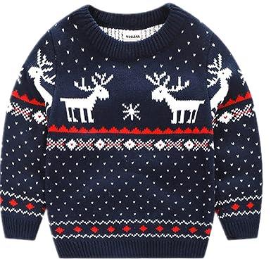 26a74074b512 MULLSAN Children's Fireplace Lovely Sweater Christmas Best Gift (2T, Dark  Blue)