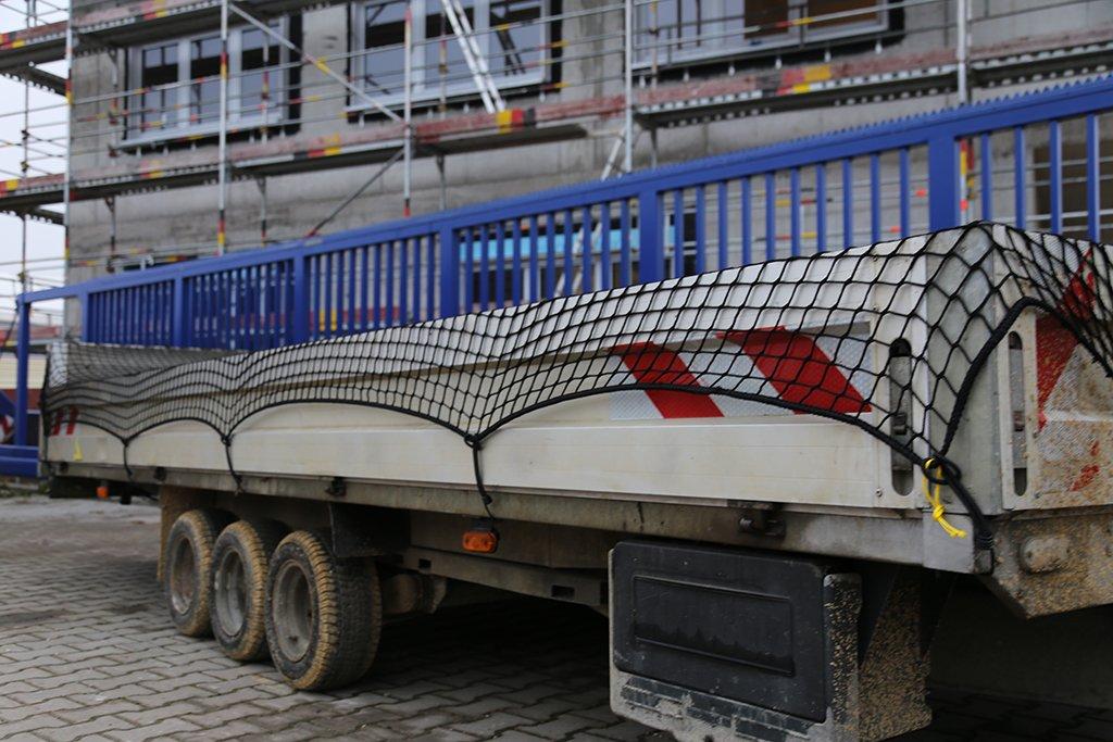 Abdecknetz 2,5m x 4m Transportnetz f/ür Anh/änger zur Ladungssicherung in schwarz