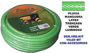 pluvia KIT MANGUERA RIEGO 20ts. 15mm LATEX: Amazon.es: Jardín