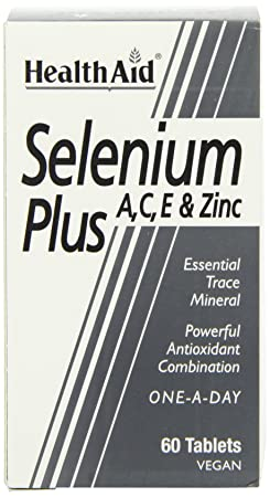 Amazon.com: Health Aid Selenium Plus (Vitamins A, C, E & Zinc) 60 Tablets: Health & Personal Care