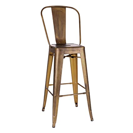 Tremendous Amazon Com Design Lab Mn Dreux Vintage Copper High Back Andrewgaddart Wooden Chair Designs For Living Room Andrewgaddartcom