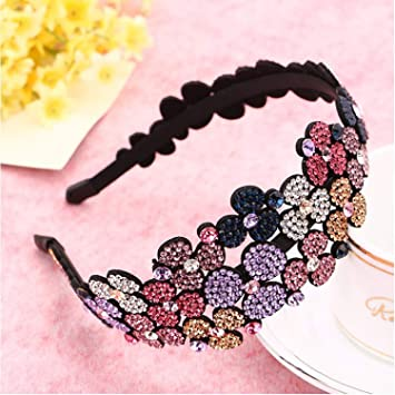 Crystal Hairband Headband Flower Rhinestone Women Hair Bands Hoop Accessories