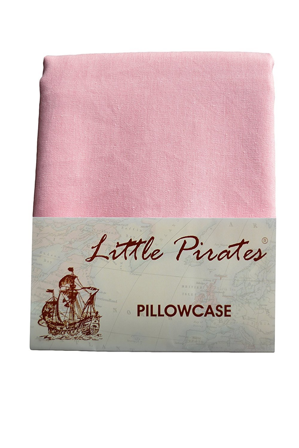 Brand New Pink Baby Cot Bed Pillow Case 60 x 40 - 100% Cotton Little Pirates