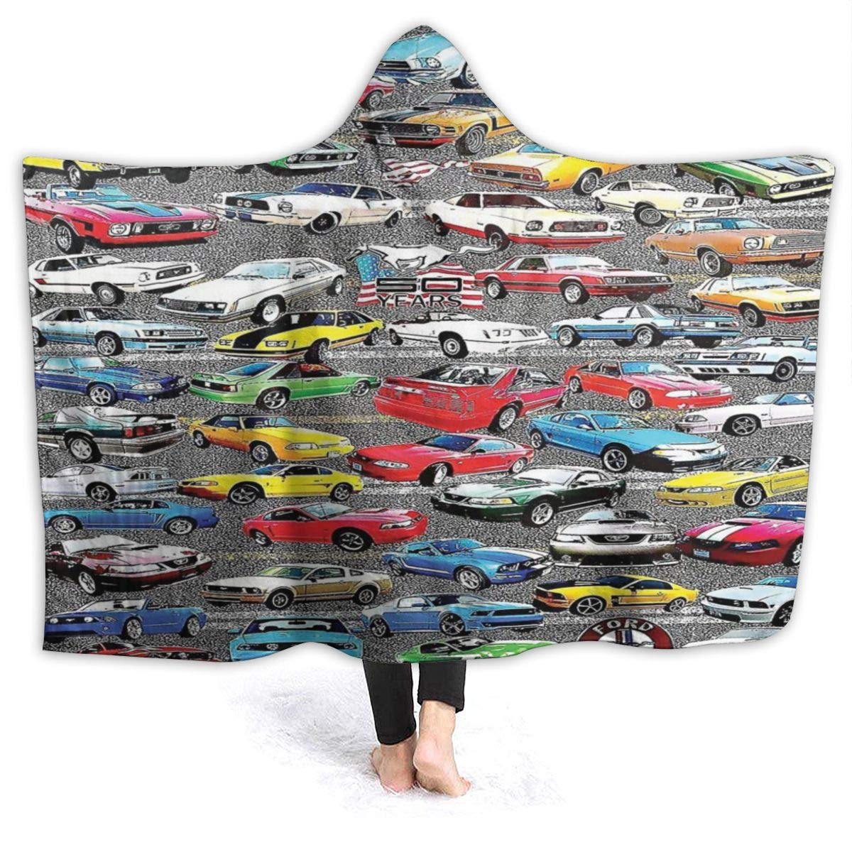 GREATN Colorful Kids Toy Card Pattern Hooded Blanket Microfiber Serape Anti-Static Hooded Robe Thermal Throw Sleeping Blankets for Sofa Bed Couch by GREATN