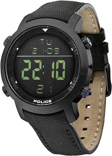 montre digitale homme bracelet cuir