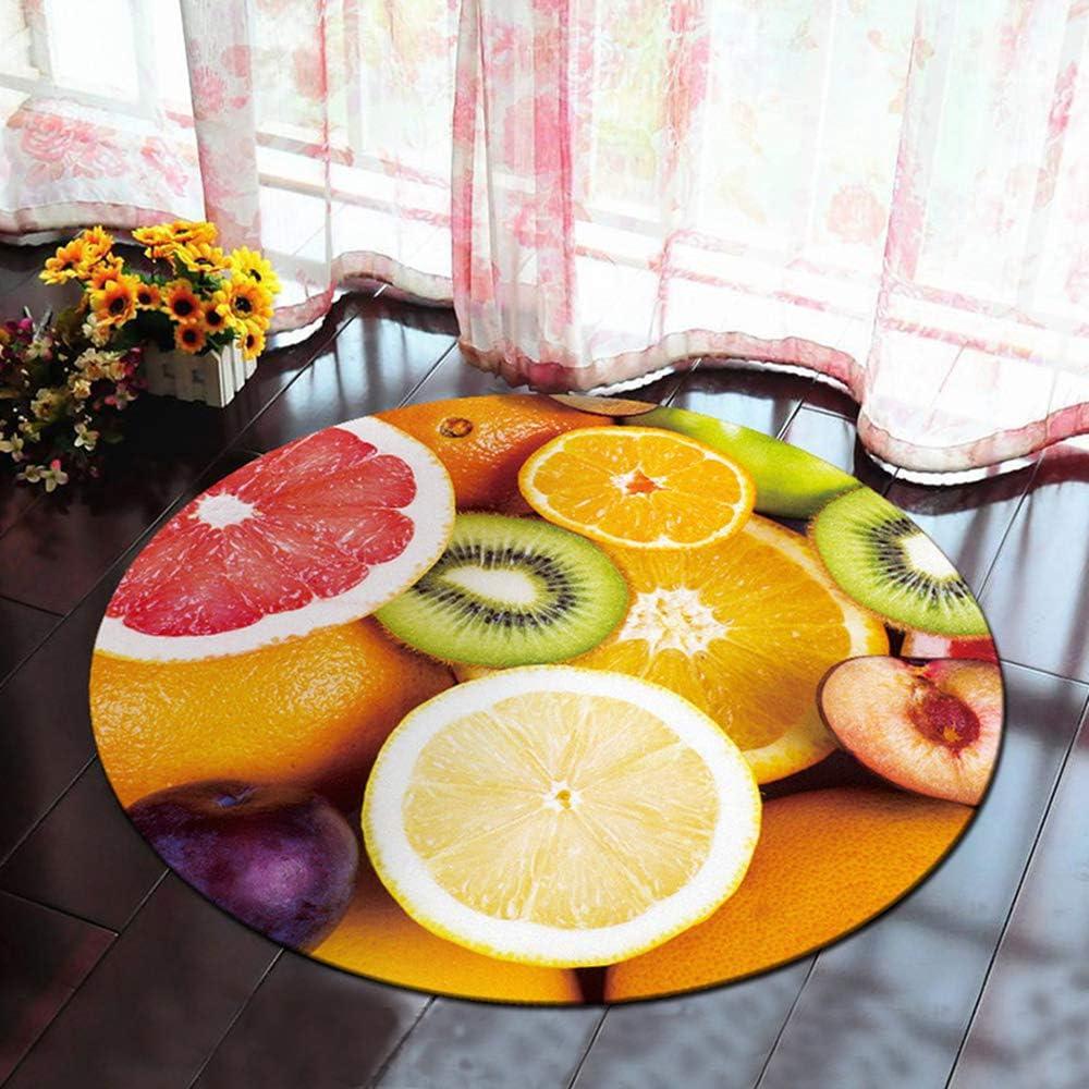 Tapis Rond Lavable en Machine 120cm Morbuy 3D Multicolore Interieur Anti Slip Chambre /à Coucher Salon Tapis dEntr/ée Absorbant Antid/érapant 120cm,Rose
