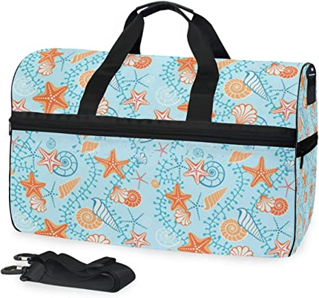 Yellow Background Cactus Flower Large Travel Duffel Bag For Women Men Overnight Weekend Lightweight Luggage Bag