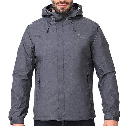 CAMEL CROWN Mens Waterproof Jacket Hooded Windbreaker Windproof Rain Coat Shell