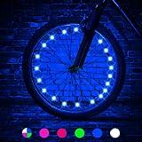 TINANA 2 Tire Pack LED Bike Wheel Lights Ultra Bright Waterproof Bicycle Spoke Lights Cycling Decoration Safety Warning…