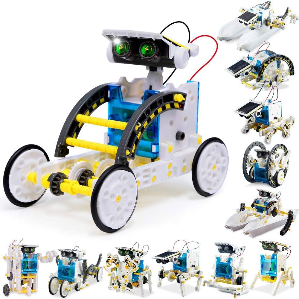FLY2SKY 12 Em 1 Haste Brinquedo Educativo Robô Solar experimento de construção Kit Quebra-cabeça