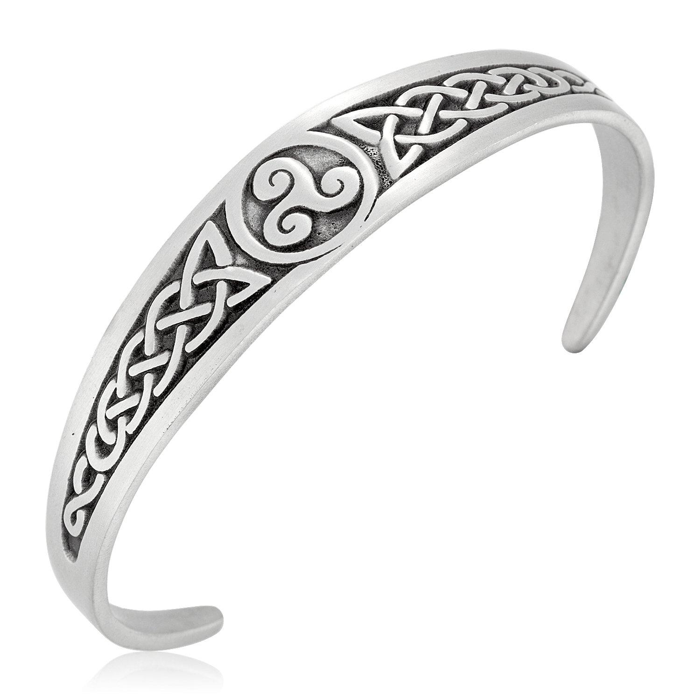 Dan's Jewelers Irish Triskele Celtic Knot Bracelet, Fine Pewter Jewelry by Dan's Jewelers (Image #2)