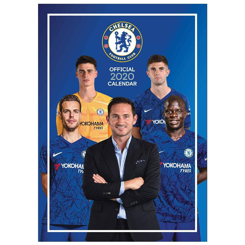 Official Chelsea FC A3 Premier League 2020 Soccer Calendar