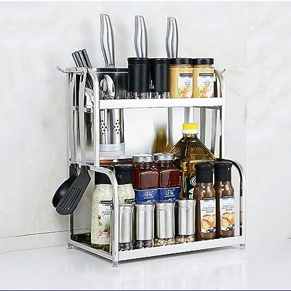 Amazon.com: BJLWT Kitchen Storage Rack-Spice Utensil Rack ...
