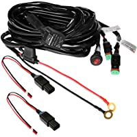 Primelux PWH-011602 12ft 16 Gauge Relay Wiring Harness for LED Light Bars - 12V 40A Relay & 3-Pin On/Off Rocker Switch & Waterproof Fuse Holder & Blade Fuse & Male/Female Deutsch DT Connectors (2-Way/30 amp Fuse/16 AWG)