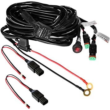Primelux 12ft Relay Wiring Harness for LED Light Bars - 12V 40A Relay on