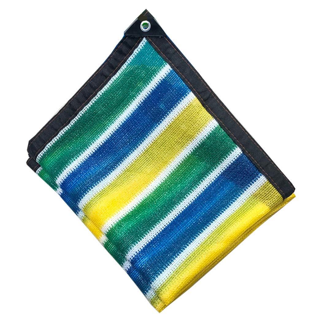 75%日焼け止め バイザー布 ワッシャー付き、パーゴラカバーキャノピー用パーフェクトヘビーデューティーシェードパネル,Stripes_4x9m/12x27ft B07SC7LZLC Stripes 4x9m/12x27ft