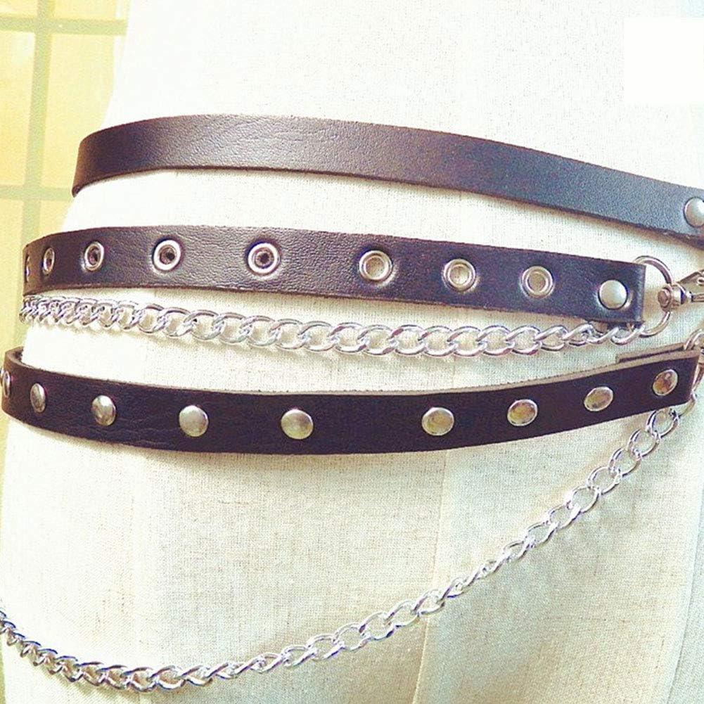Zonfer Femmes Taille Cha/îne Harnais Ceinture Garter Belt Cha/înes De Corps avec Boucle Punk Gothique pour Lady