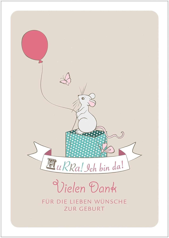 disponible en el 1er 4 8 unidades: Süße dankeskarte recién nacido ...