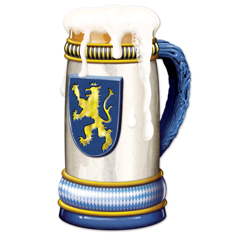 Beistle 52132 Jumbo Beer Stein Cutout, 3', Multicolor 3'