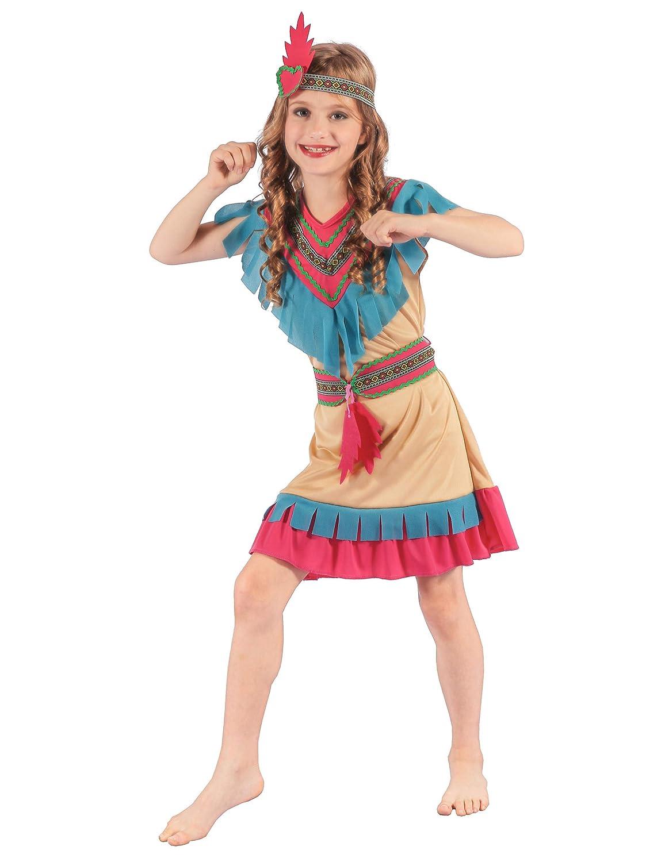 Generique - Disfraz de India Colorida Niña: Amazon.es ...
