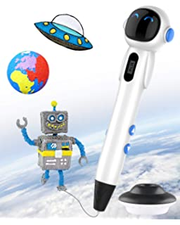 Easy and Safe to Use 3D Doodle Pen for Kids and Adults 3 Speed Printing /& Temperature Control 3D Printer pen with USB Charging Intelligent 3D Printing Pen with LCD Display 3D Pen