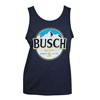 7aa67e54b8c077 Busch Beer Tank Top Blue at Amazon Men s Clothing store