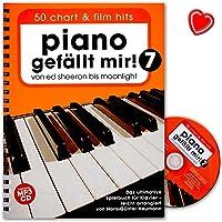 Piano gefällt mir! 50 Chart und Film Hits Band 7 - Notenbuch mit CD und mit bunter herzförmiger Notenklammer