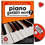 Piano gefällt mir! 50 Chart und Film Hits - Band 7 mit CD - von Ed Sheeran bis Moonlight - Das ultimative Spielbuch für Klavier - Notenbuch mit CD und bunter herzförmiger Notenklammer - BOE7880