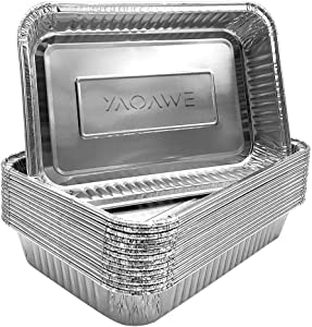YAOAWE 15 Pack Compatible with Weber Grills Small Drip Pans,Aluminum Foil BBQ Grease Pans 8.5