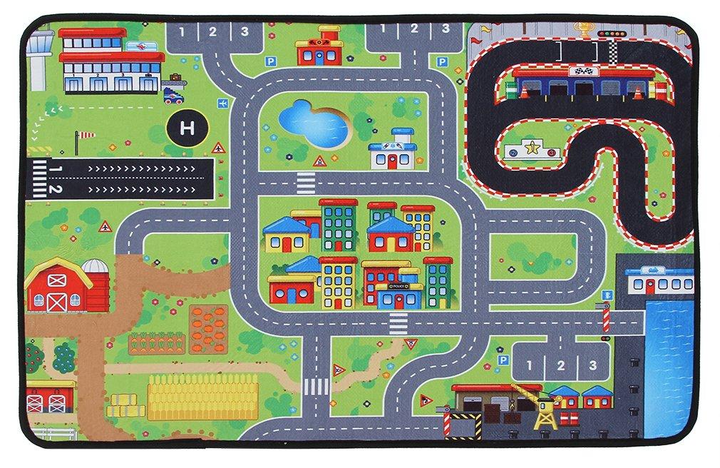 低価格の EOZY 地図 ラグ カーペット 大判 ゲーム 遊びマット ベビー 赤ちゃん 滑り止め キッズ クロールマット フロアマット 滑り止め ベッドルーム 地図 お町マップ 折り畳み 洗える 大判 160*200cm 160*200cm B07DMCGHQ2, 手作り家具工房 食器棚専門店:d81536d5 --- outdev.net
