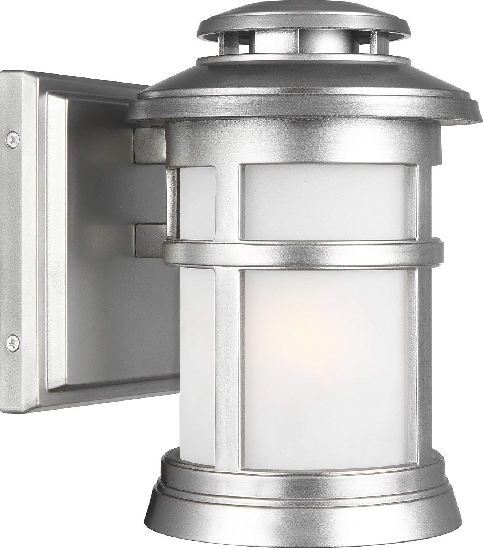 Feiss OL14300PBS Newport StoneStrong Marine Grade Outdoor Patio Lighting Wall Lantern, 1-Light 75 Watt (6