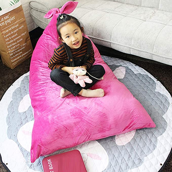 Miraculous Amazon Com Yhouse Soft Flannel Kids Bean Bag Cover Plush Machost Co Dining Chair Design Ideas Machostcouk