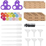 Essential Oil Opener Essential Oil Key Tools Set for Glass Roll on Bottles, Remove Roller Bottles Caps and Roller Balls Easily, Includes 72 Labels, 2 Openers, 6 Droppers, 6 Funnels and Brush,Nice Gift