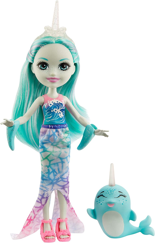 Enchantimals Muñeca con Mascota Naddie Narwhal y Sword (Mattel GJX41)