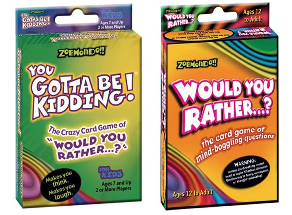 Zobmondo!! Would You Rather/You Gotta Be Kidding Card Game (Fun Pack) by Zobmondo!! (Image #1)
