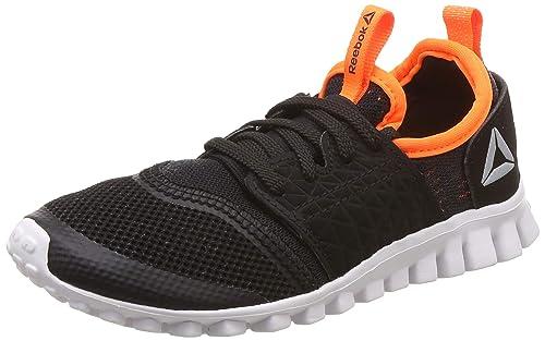 e73d365148 Reebok Boy's Black/Wild Orange Running Shoes-13 Kids UK/India (31 EU ...
