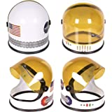 Astronaut Helmet with Movable Visor - Pretend & Play Toy for Dress Up Fun, Role Play Accessory, Birthday Party Favor Supplies