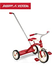 """Radio Flyer Classic Red 10"""" Tricycle with Push Handle"""