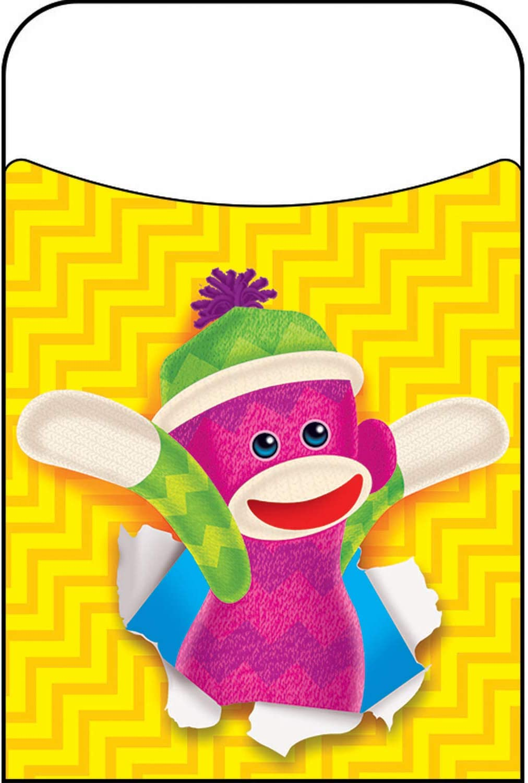 TREND ENTERPRISES, INC. Sock Monkeys Terrific Pockets, 40 ct