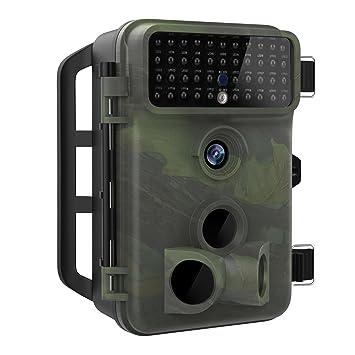 MoKo Cámara de Caza, Cámara de Rastreo Impermeable IP66 1080P HD con Infrarroja con Visión