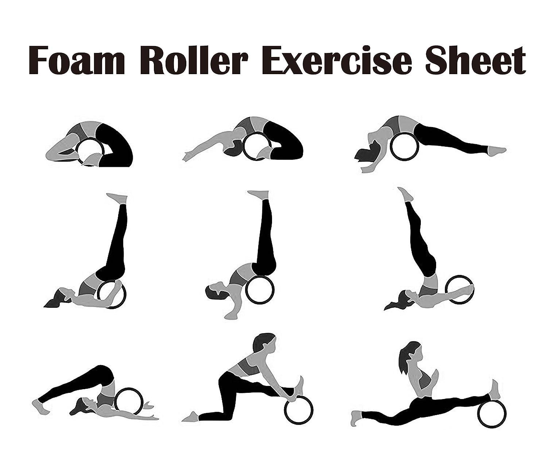 pseudois antideslizante Yoga rueda rodillo para estiramiento ...