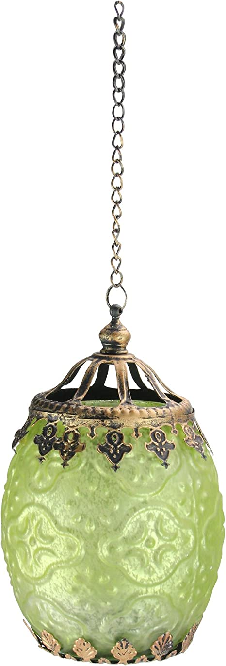 Midwest Gloves 6 25 Lime Green Chic Bohemian Glass Tea Light Candle Holder Lantern Home Kitchen