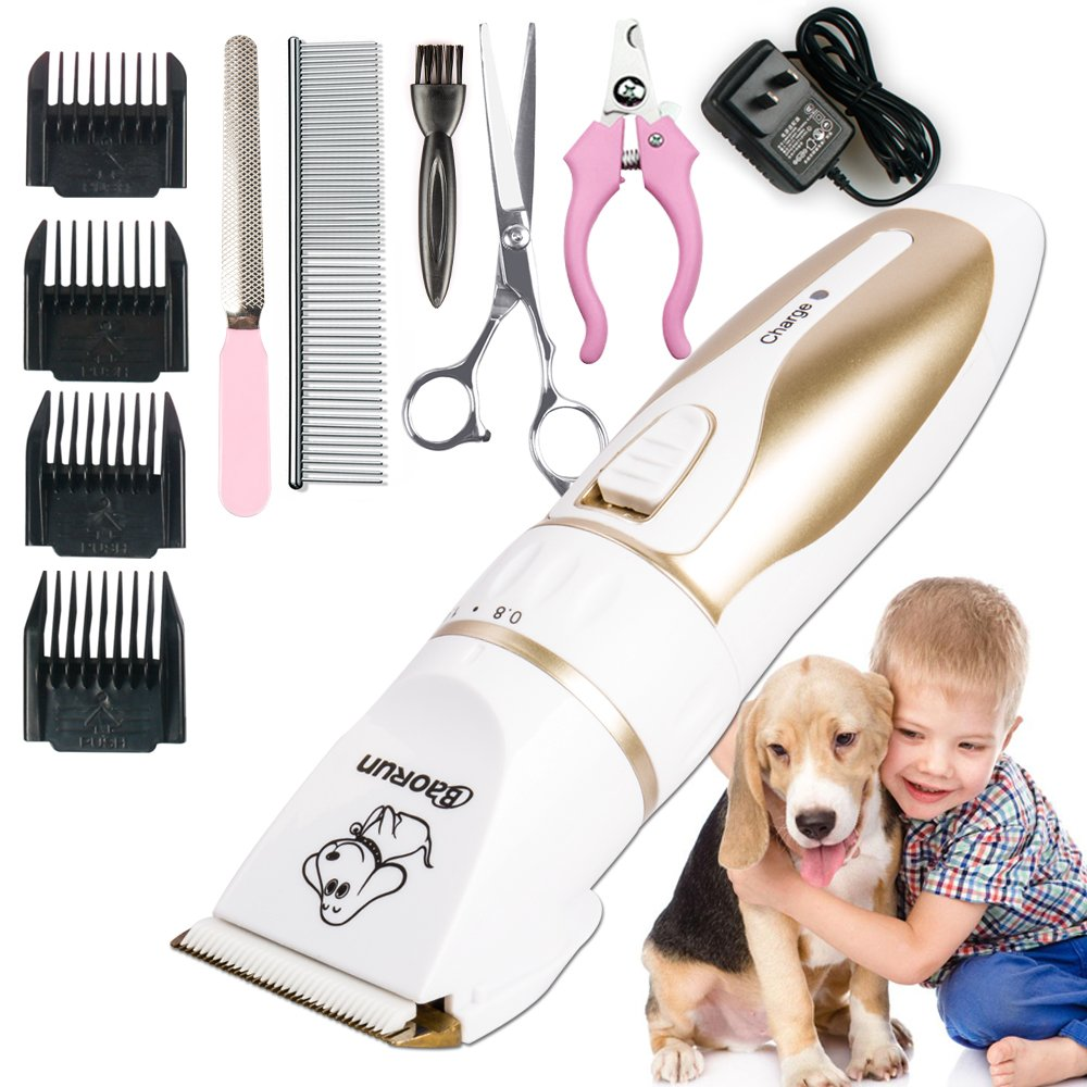 Professinal Rechargeable Cat Dog Animal Hair Trimmer Electric Pet Hair Fur Remover Cutter Shaver Grooming Clipper Haircut Machine