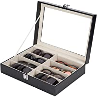 CO-Z Eyeglasses Eyewear Organizer Display Storage Case (8 Compartments)