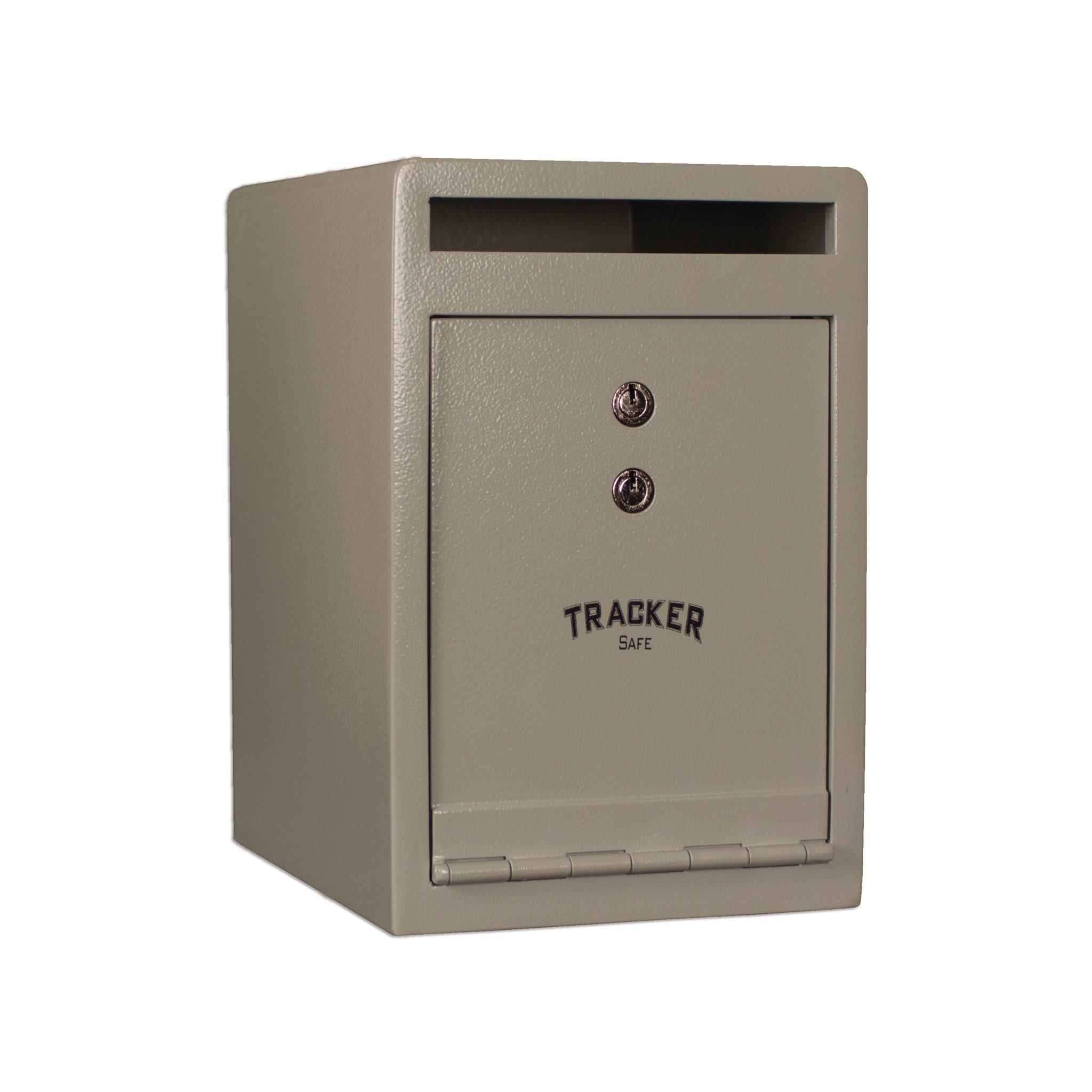 Tracker Safe DS120810-K Steel Deposit Safe, Key Lock, White/Cream Powder Coat Paint, 0.55 cu. ft.
