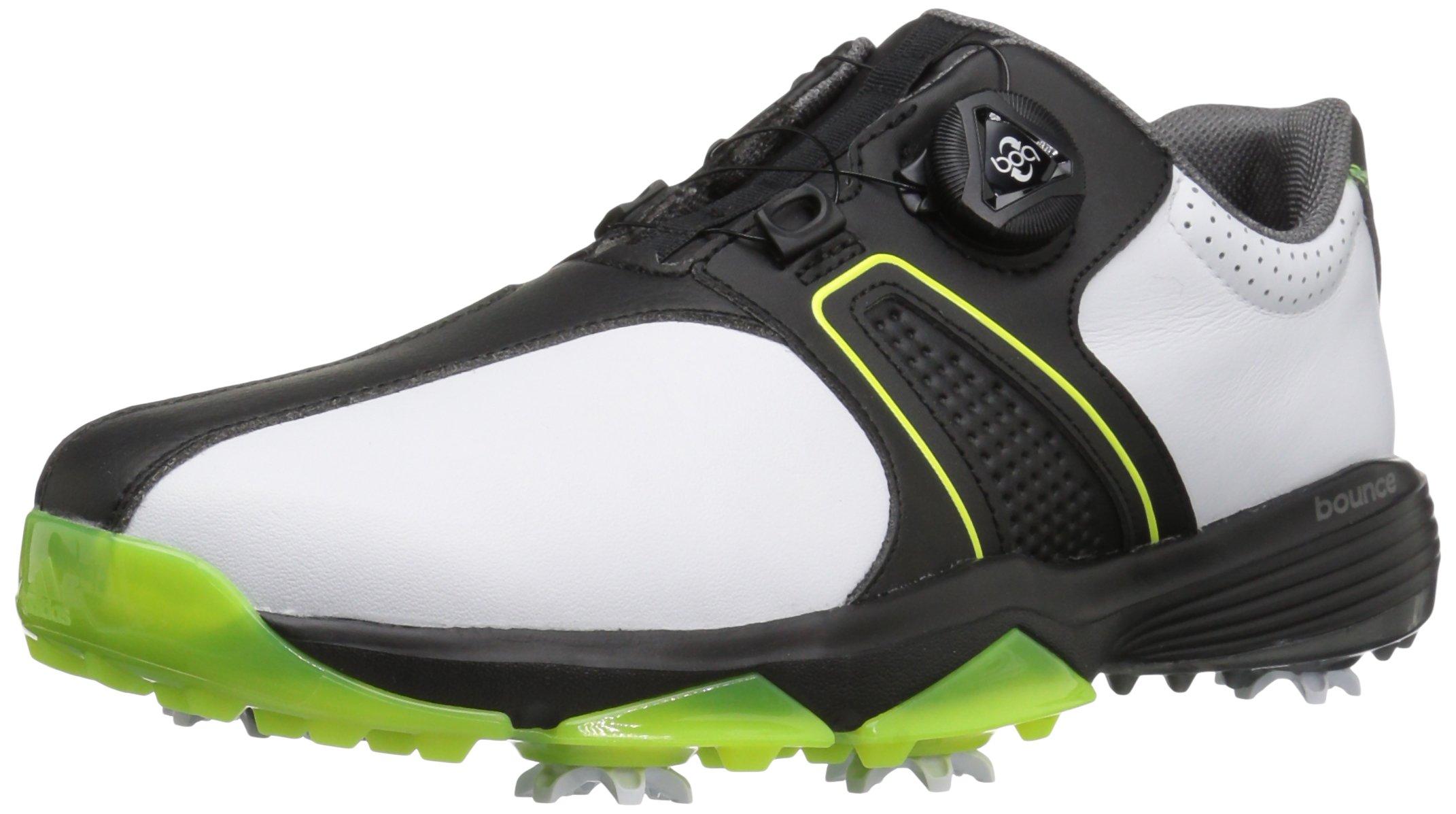 adidas Men s 360 Traxion Boa Golf Shoe Ftwr White Core Black Solar ... b7c7ee2869a