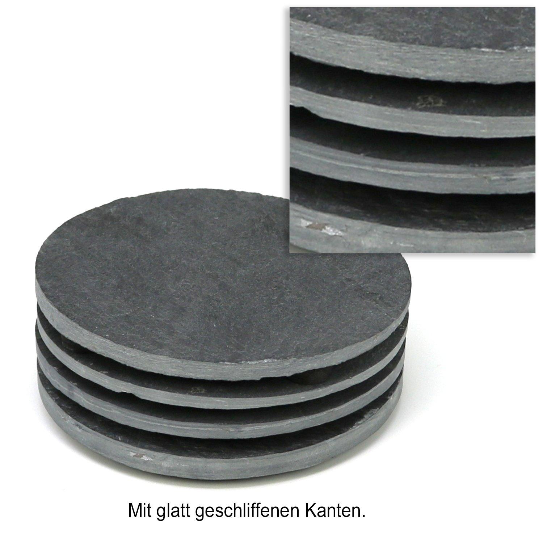 Piano in Ardesia Naturale con Piano a Buffet piattino 25 x 25 cm COM-FOUR/® Piatto in Ardesia 01 Pezzo - Piatto da Portata 25 x 25 cm