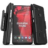 Encased Essential Phone Ph-1 Belt Clip Case (2019 DuraClip) Slim Grip Cover w/Rotating Holder (Essential Phone PH1) Black