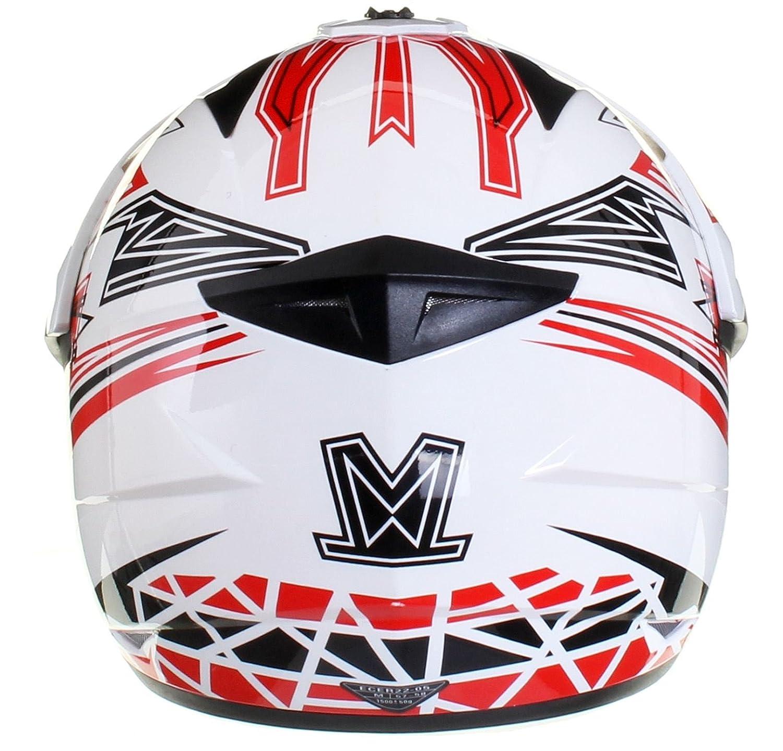 XS 53-54cm Qtech MX Crash HELMET with Visor for Motocross Motorbike ATV Enduro VIPER in Black /& White
