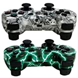 Amazon Price History for:MKK 2 Pack Wireless Bluetooth Double Vibration Gamepad Game Gaming Controllers for PS3- 1 Green Lightning and 1 Skull